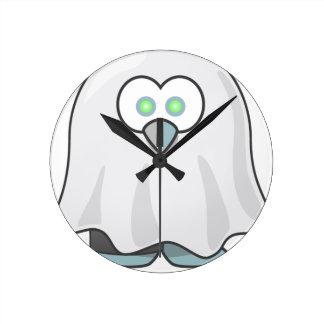 Horloge Ronde Halloween - effrayé peu de fantôme