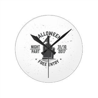 Horloge Ronde Halloween-partie