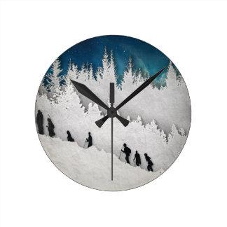 Horloge Ronde Hausse II de neige