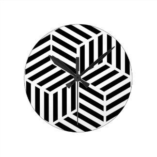Horloge Ronde Hexagones