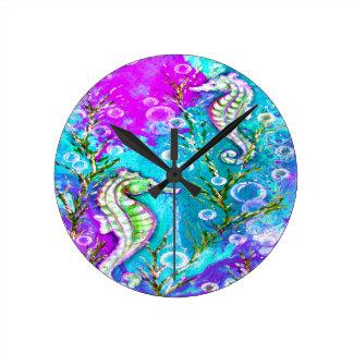 Horloge Ronde Hippocampes