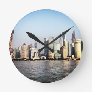 Horloge Ronde Horizon de Changhaï Chine