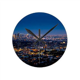 Horloge Ronde Horizon de nuit de Los Angeles