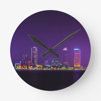 Horloge Ronde Horizon de nuit du Vietnam de Da Nang