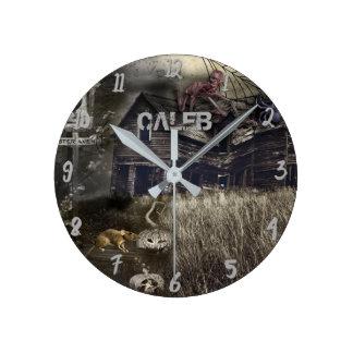 Horloge Ronde Horreur sinistre de Halloween de zombi