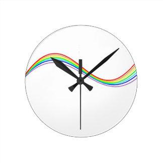 Horloge Ronde hyperbole arc-en-ciel