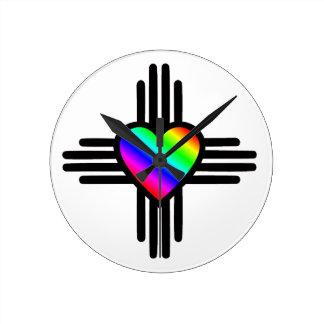 Horloge Ronde I coeur Nouveau Mexique