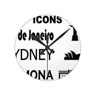Horloge Ronde Icône-Rio-Sidney
