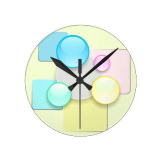 Horloge Ronde Icônes en verre