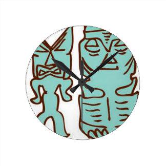 Horloge Ronde Il est temps de Tiki !