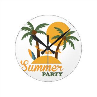 Horloge Ronde Île tropicale de vacances de vacances d'été avec