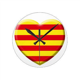 Horloge Ronde J'aime les Catalans