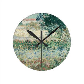 Horloge Ronde Jardin de Vincent van Gogh | en fleur, Arles, 1888