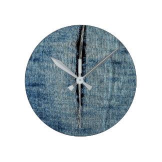 Horloge Ronde Jeans déchirés