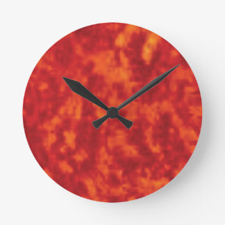 Horloge Ronde jello orange