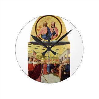 Horloge Ronde Jésus monte un UFO