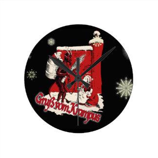 Horloge Ronde Jour de neige de Krampus