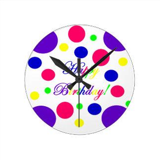 Horloge Ronde Joyeux anniversaire !