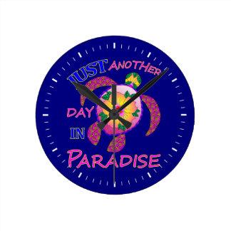 Horloge Ronde Juste un autre jour dans le paradis