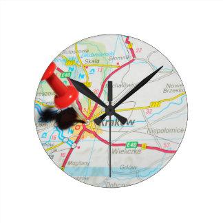 Horloge Ronde Kraków, Cracovie, Cracovie en Pologne