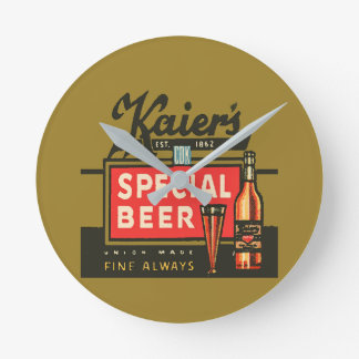 Horloge Ronde La bière spéciale de Kaier