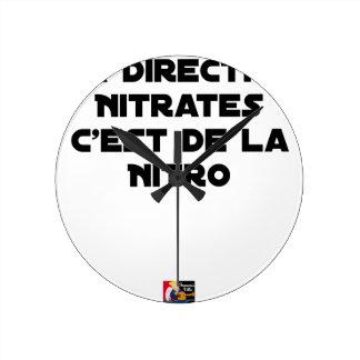 Horloge Ronde La Directive Nitrates, c'est de la Nitro - Jeux de