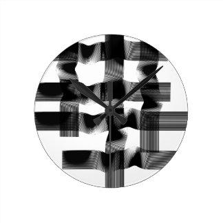 Horloge Ronde La géométrie noire