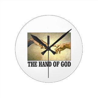 Horloge Ronde la main d'un dieu