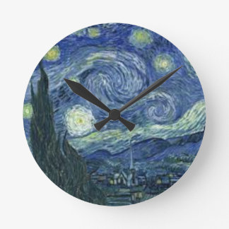Horloge Ronde La Nuit Etoilée de Van Gogh (The Starry Night)