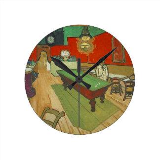 Horloge Ronde La peinture de café de nuit