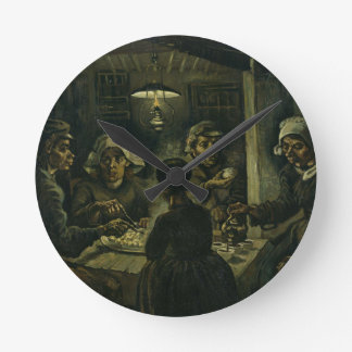 Horloge Ronde La peinture de mangeurs de pomme de terre