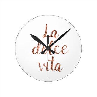 Horloge Ronde La rose Dolce Vita d'or