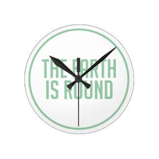 Horloge Ronde La terre est ronde