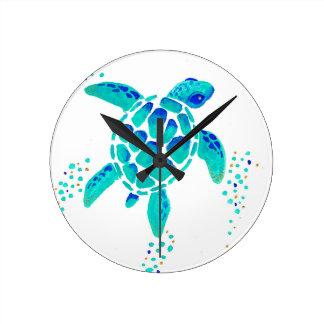 Horloge Ronde La tortue de Neptune