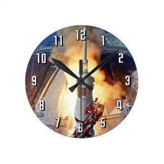 Horloge Ronde Lancement de Rocket d'alunissage de la NASA Apollo