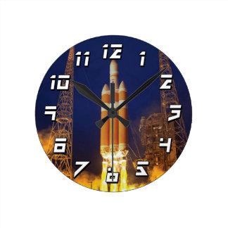 Horloge Ronde Lancement de Rocket de vaisseau spatial de la NASA