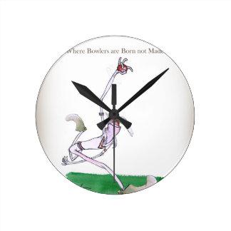 Horloge Ronde Lanceurs de cricket de Yorkshire d'amour les 'sont
