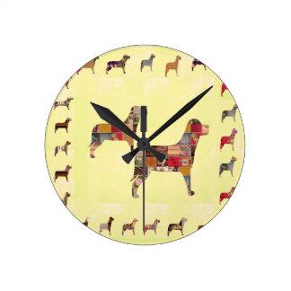 Horloge Ronde L'animal familier peint de cadeaux de CHIENS