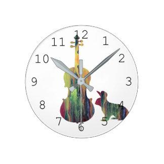 Horloge Ronde Lapin avec l'art d'alto