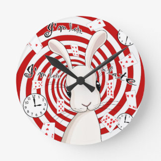Horloge Ronde Lapin blanc au pays des merveilles