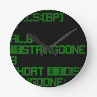 Horloge Ronde Le code source a mené 01