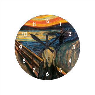 Horloge Ronde Le cri perçant d'Edvard Munch