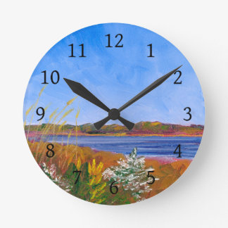 Horloge Ronde Le fleuve Delaware d'or