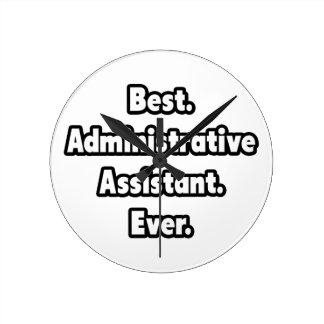 Horloge Ronde Le meilleur. Assistant administratif. Jamais