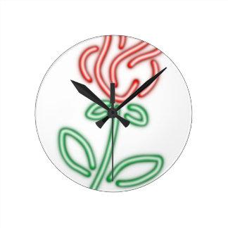 Horloge Ronde Le NÉON S'EST LEVÉ, BEAUTÉ et les chemises de