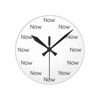 Horloge Ronde Le Now est Zen™ - bouddhiste de Taoist de