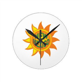 Horloge Ronde Le soleil du Nouveau Mexique