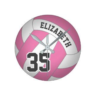 Horloge Ronde le volleyball des femmes toute couleur