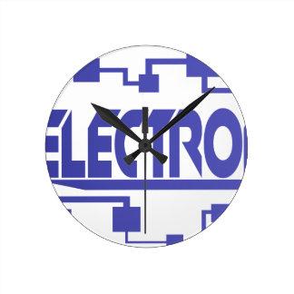 Horloge Ronde L'électronique