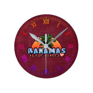 Horloge Ronde Les Bahamas sont pour des amants